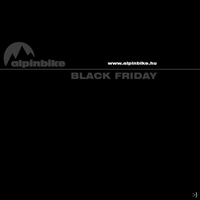Black Friday az év legjobban várt napja az Alpinbike-ban is.