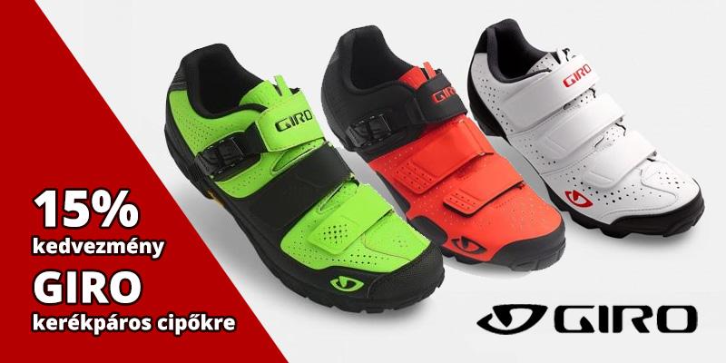 15% kedvezményt adunk Giro kerékpáros cipőkre