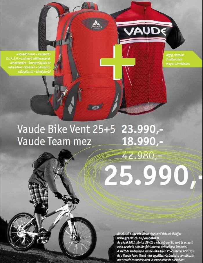 Meghosszabbítottuk a Vaude kerékpáros-hátizsák akciót!