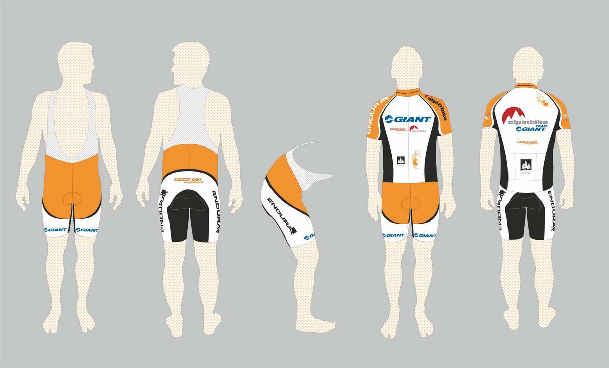 2012-es AlpinBike Team klub mezek és nadrágok