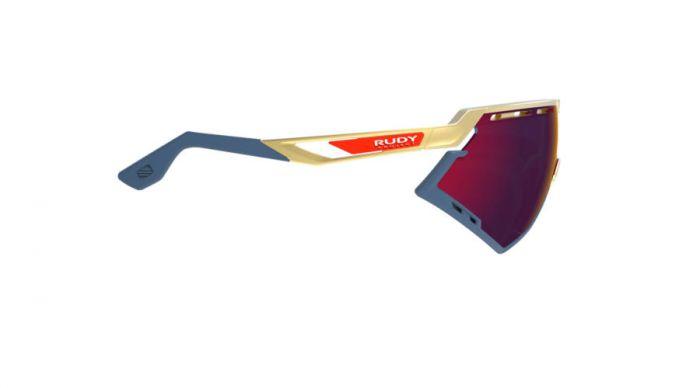 RUDY PROJECT DEFENDER GOLD-BLUE BUMPERS/MULTILASER RED szemüveg