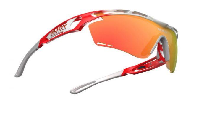 RUDY PROJECT TRALYX TEAMS-EDITION WHITE-RED-WHITE/MULTILASER ORANGE szemüveg LIMITÁLT!