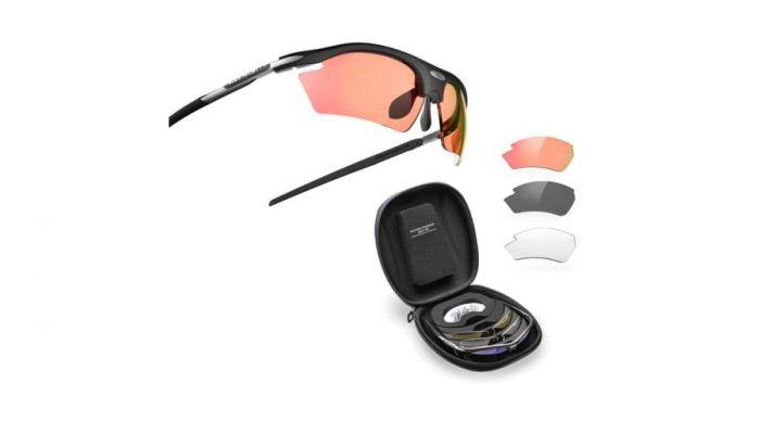 RUDY PROJECT RYDON SHOOTING BLACK RACING RED szemüveg +4 LENCSE