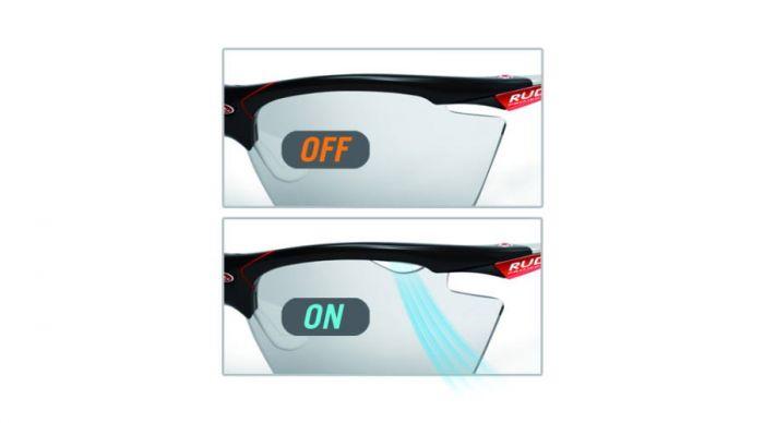 RUDY PROJECT STRATOFLY BLACK WHITE/PHOTOCLEAR szemüveg
