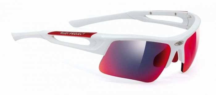 Rudy Project Exowind White Gloss Multilaser Red